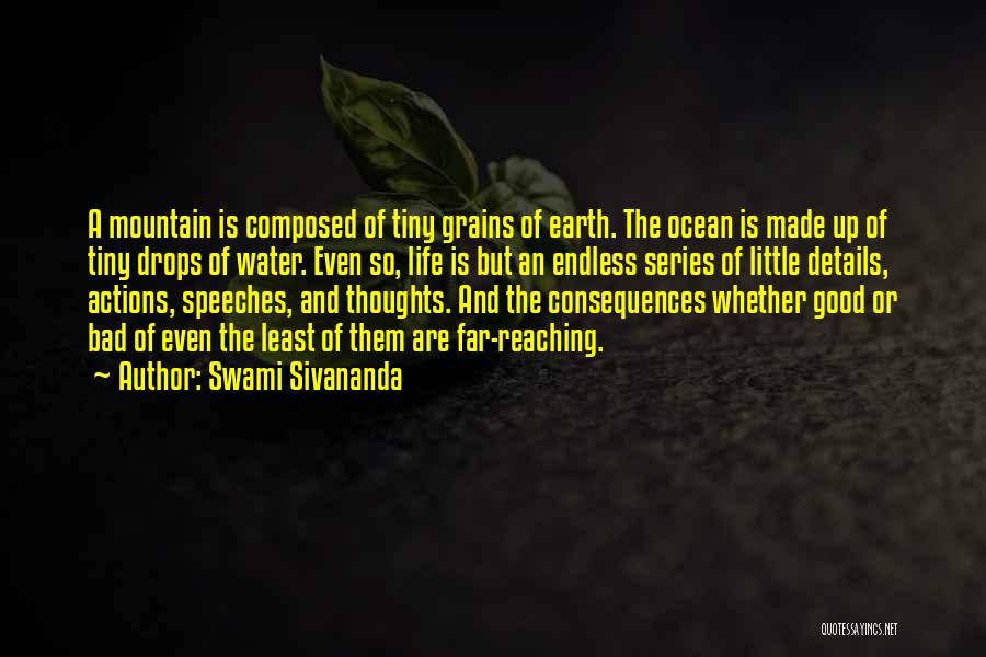 Water Drops Quotes By Swami Sivananda