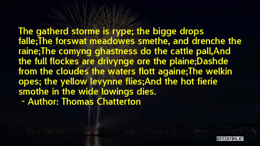 Water Drops Quotes By Thomas Chatterton
