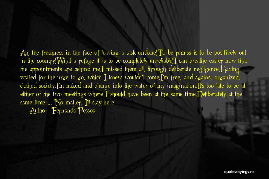 Water Is My Life Quotes By Fernando Pessoa