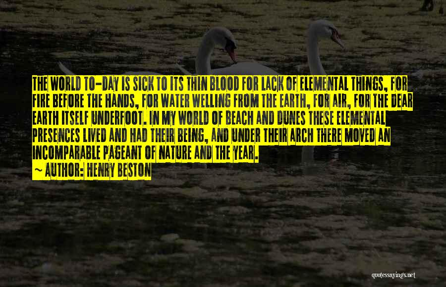 Water Is My Life Quotes By Henry Beston