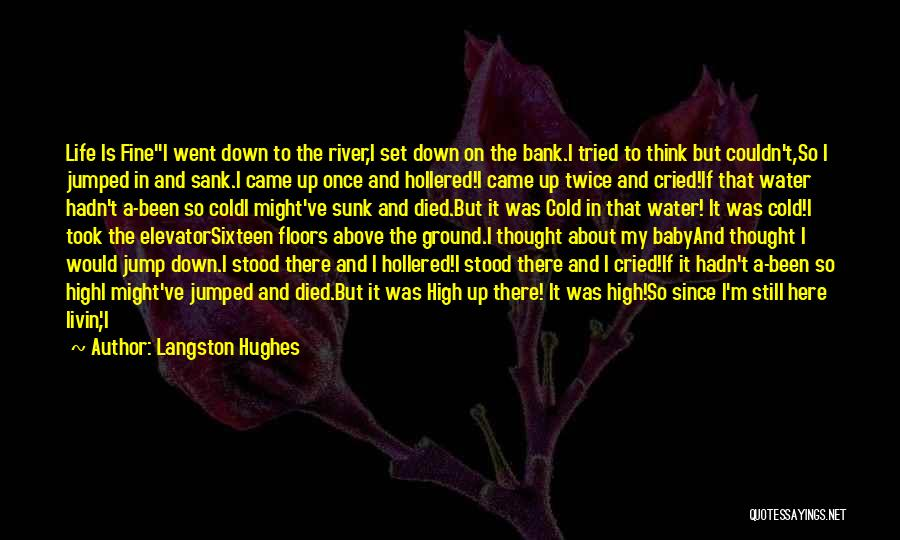 Water Is My Life Quotes By Langston Hughes