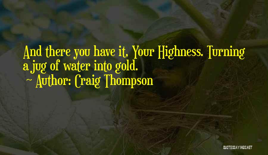 Water Jug Quotes By Craig Thompson
