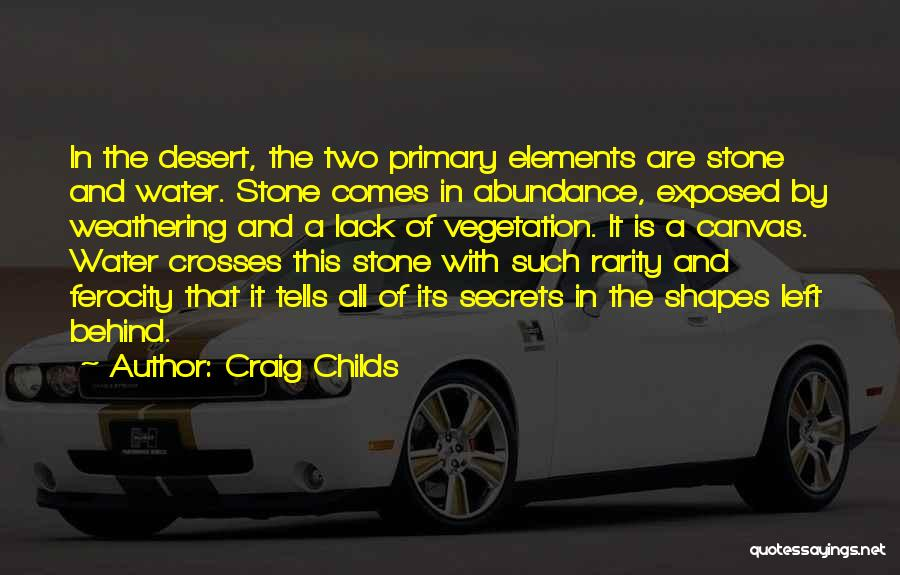 Water Stone Quotes By Craig Childs