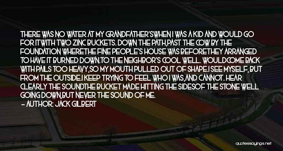 Water Stone Quotes By Jack Gilbert