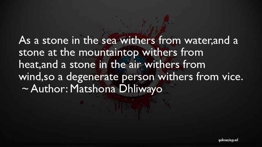 Water Stone Quotes By Matshona Dhliwayo