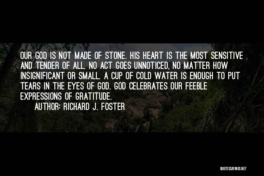 Water Stone Quotes By Richard J. Foster