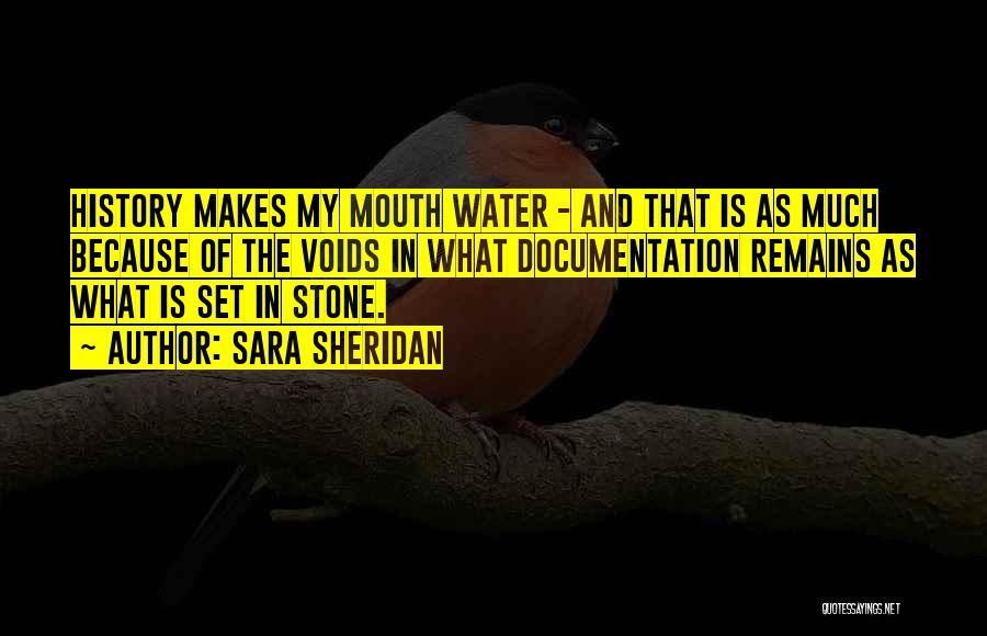 Water Stone Quotes By Sara Sheridan