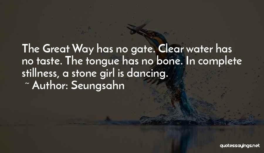 Water Stone Quotes By Seungsahn