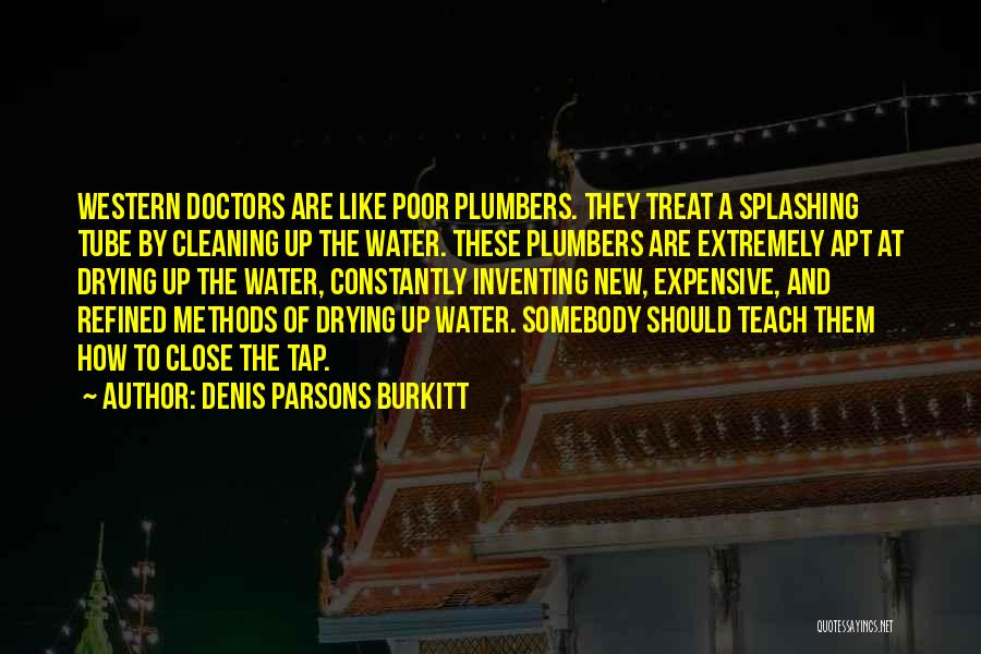Water Tube Quotes By Denis Parsons Burkitt