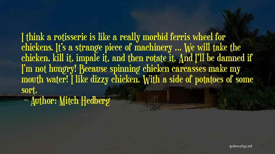 Water Wheel Quotes By Mitch Hedberg