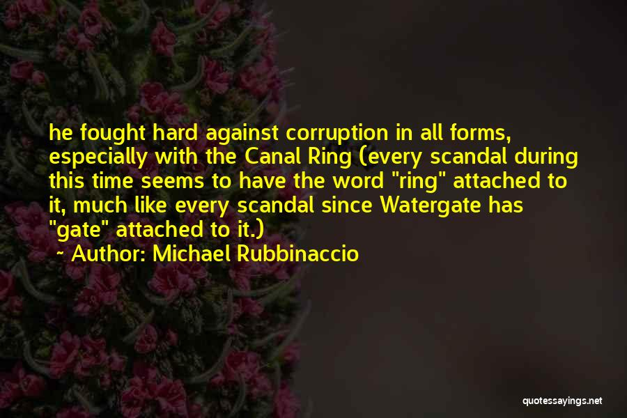 Watergate Scandal Quotes By Michael Rubbinaccio