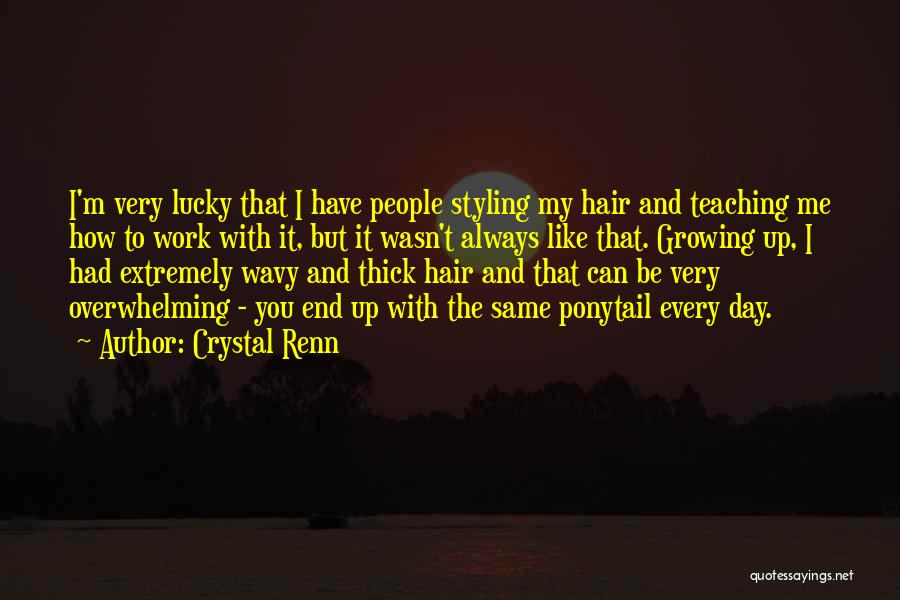Wavy Quotes By Crystal Renn