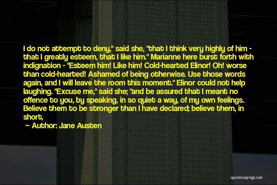 Way Of Speaking Quotes By Jane Austen