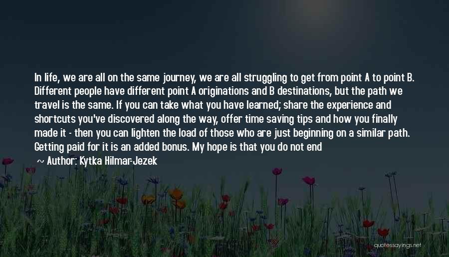 Way Of Speaking Quotes By Kytka Hilmar-Jezek