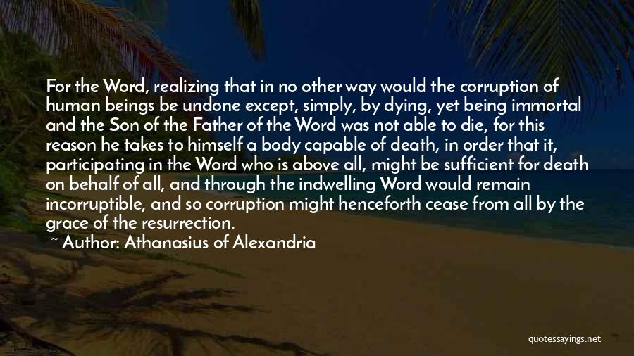 Way To Death Quotes By Athanasius Of Alexandria