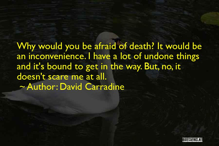 Way To Death Quotes By David Carradine