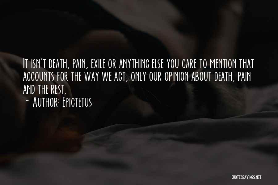 Way To Death Quotes By Epictetus