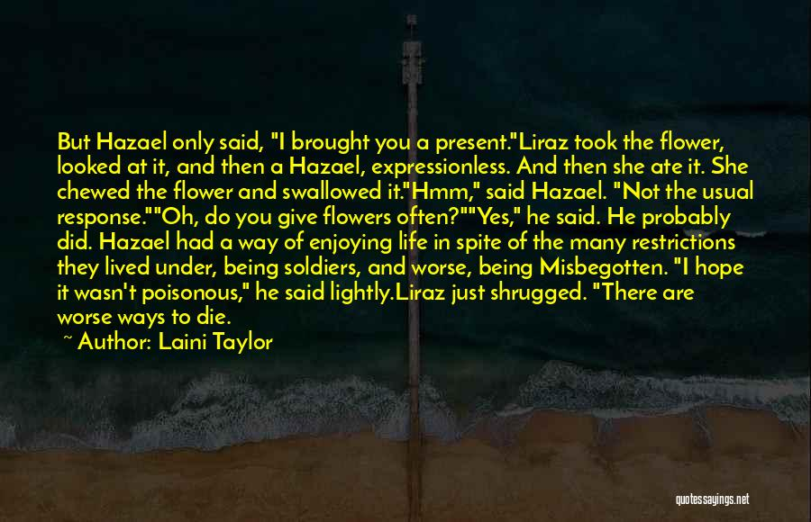 Way To Death Quotes By Laini Taylor