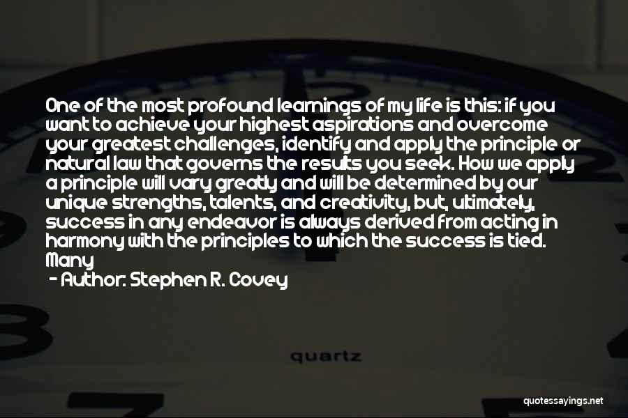 We Achieve Success Quotes By Stephen R. Covey