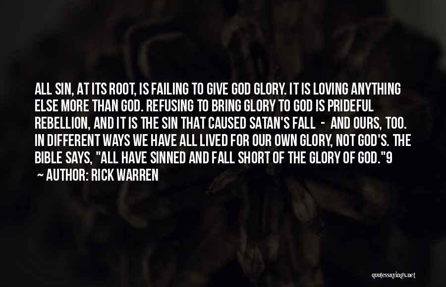 We All Fall Short Quotes By Rick Warren