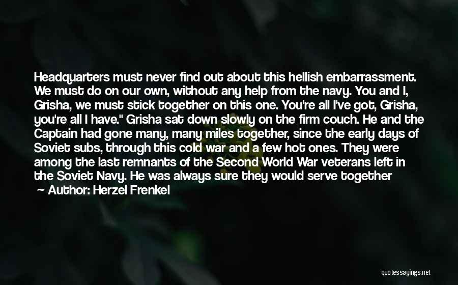 We Always Make It Through Quotes By Herzel Frenkel