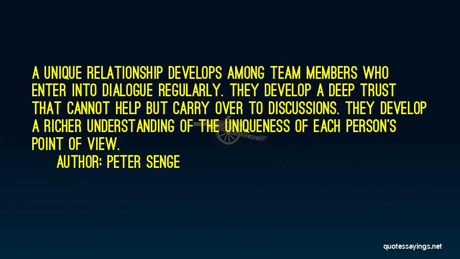 We Are A Team Relationship Quotes By Peter Senge