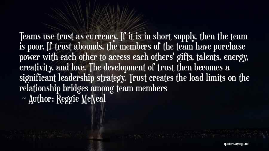 We Are A Team Relationship Quotes By Reggie McNeal