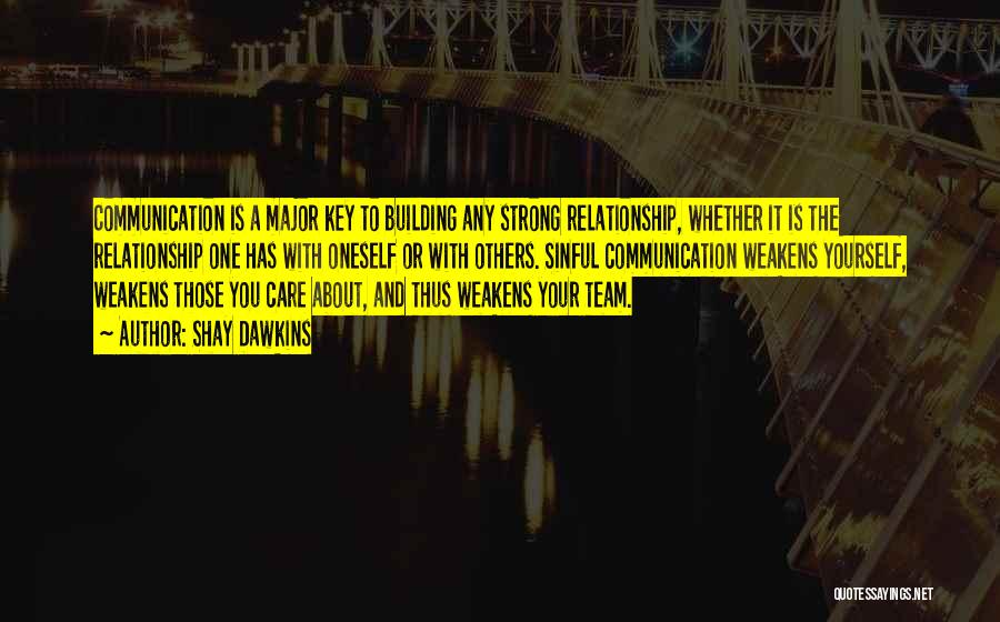 We Are A Team Relationship Quotes By Shay Dawkins