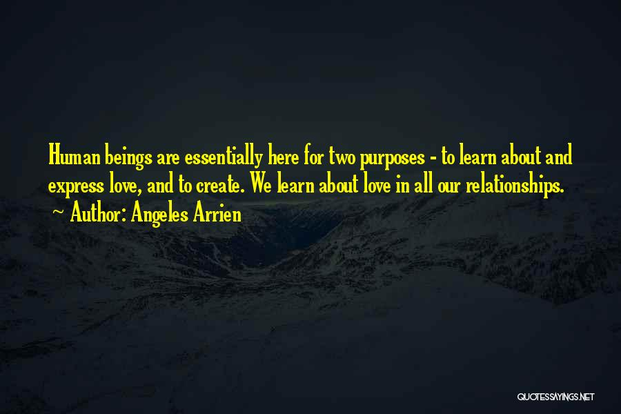 We Are Here To Learn Quotes By Angeles Arrien