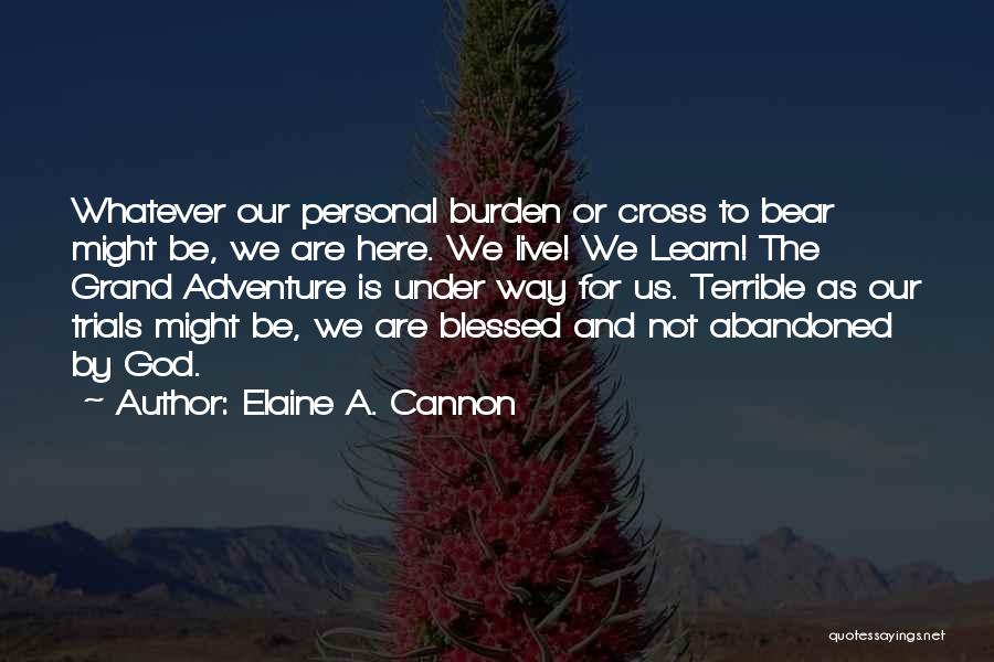 We Are Here To Learn Quotes By Elaine A. Cannon