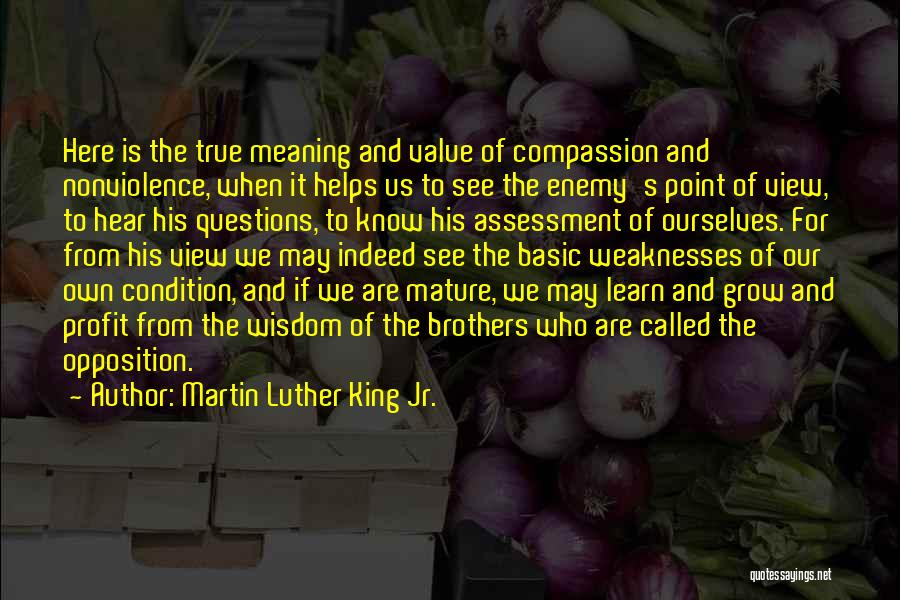 We Are Here To Learn Quotes By Martin Luther King Jr.