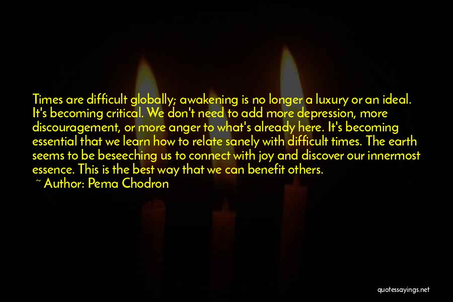 We Are Here To Learn Quotes By Pema Chodron