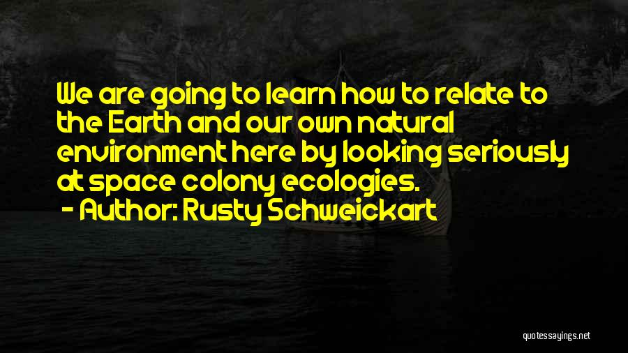We Are Here To Learn Quotes By Rusty Schweickart
