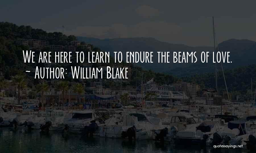 We Are Here To Learn Quotes By William Blake
