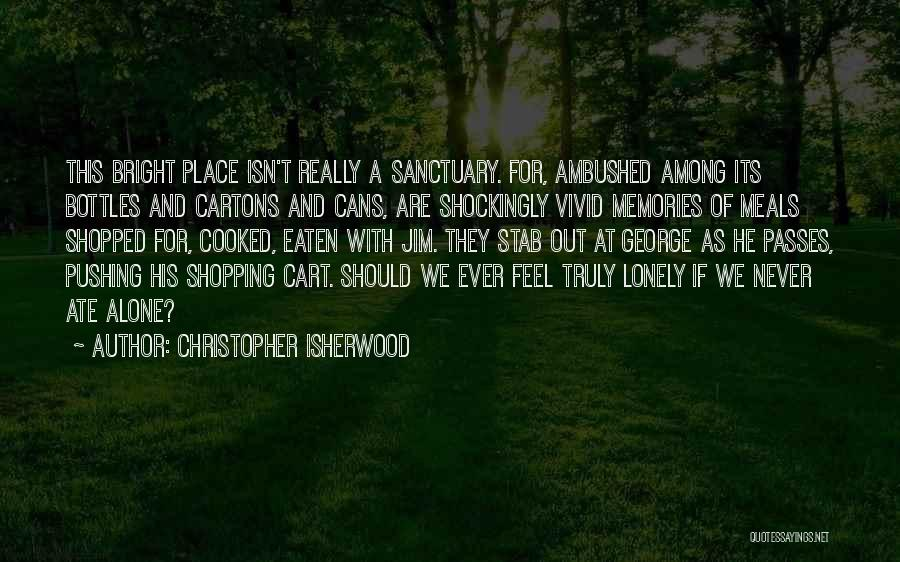 We Are Never Alone Quotes By Christopher Isherwood