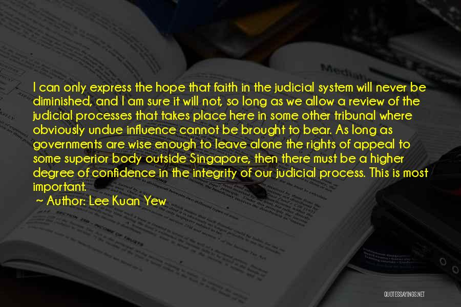 We Are Never Alone Quotes By Lee Kuan Yew
