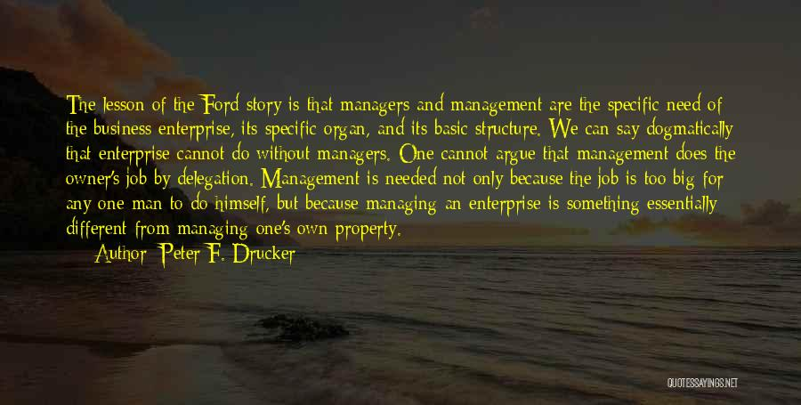 We Are Too Different Quotes By Peter F. Drucker
