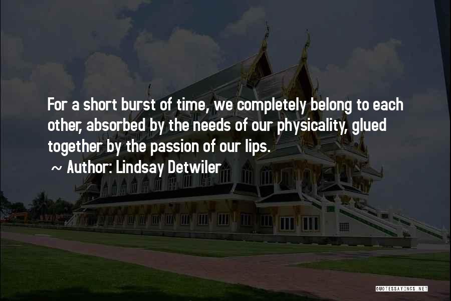 We Belong Together Love Quotes By Lindsay Detwiler