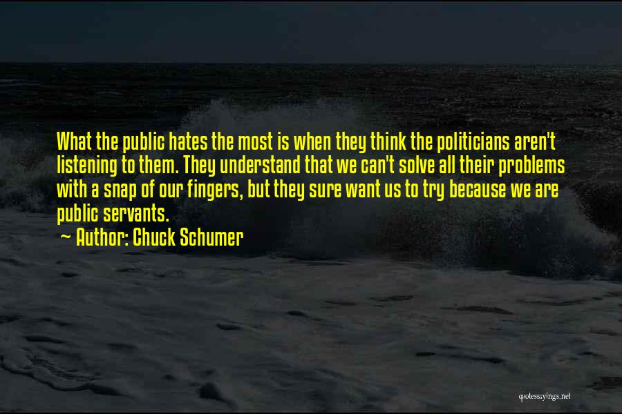 We Can Try Quotes By Chuck Schumer
