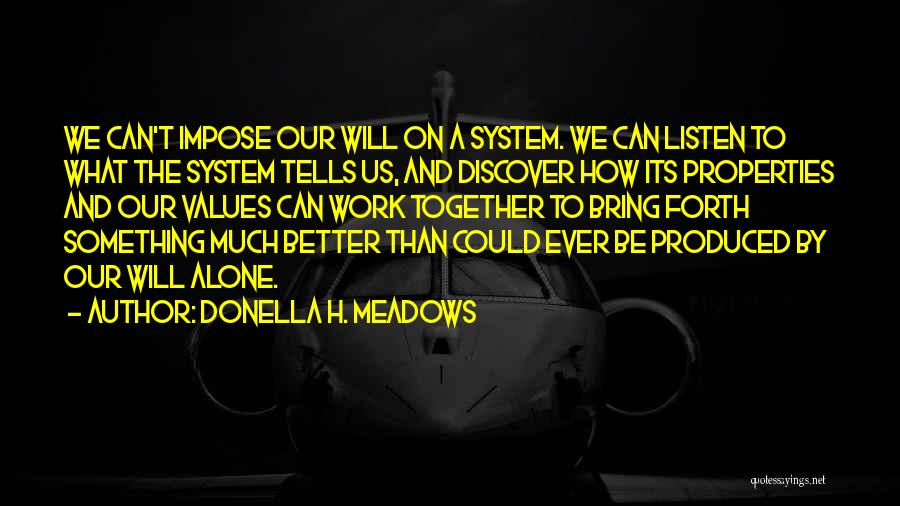 We Can't Be Together Quotes By Donella H. Meadows