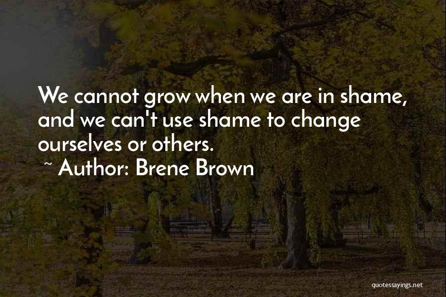 We Can't Change Quotes By Brene Brown
