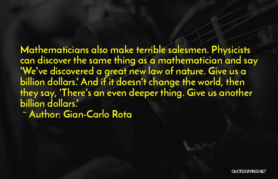 We Can't Change Quotes By Gian-Carlo Rota