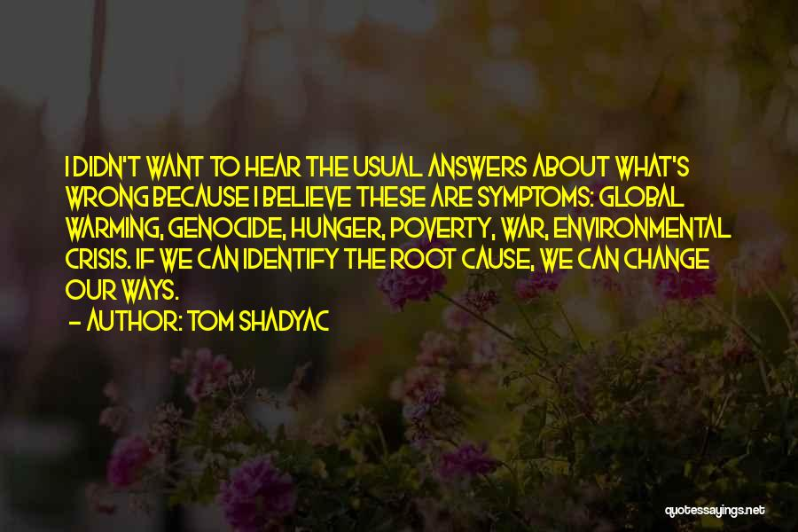 We Can't Change Quotes By Tom Shadyac