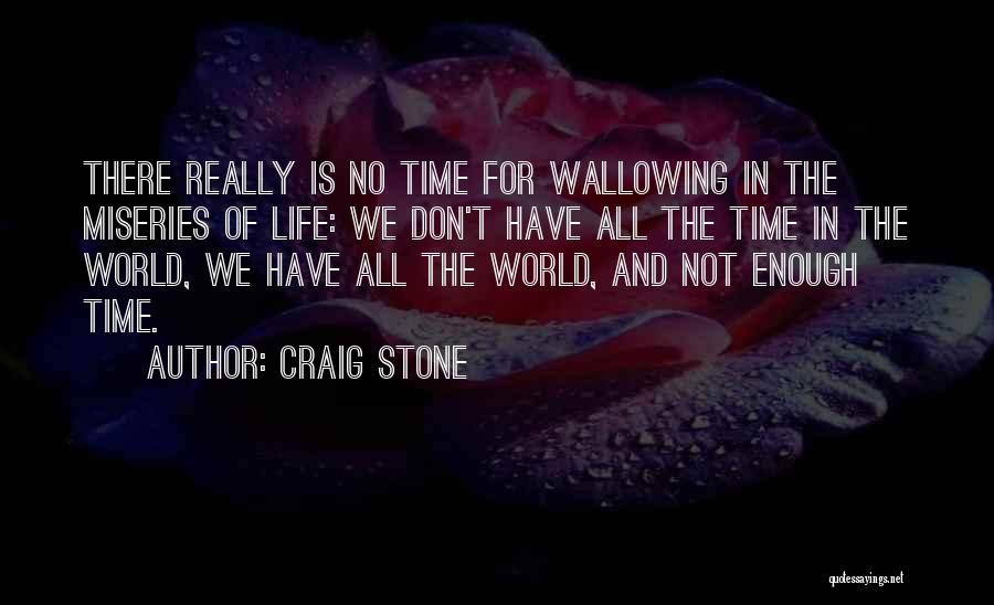 We Don't Have Enough Time Quotes By Craig Stone