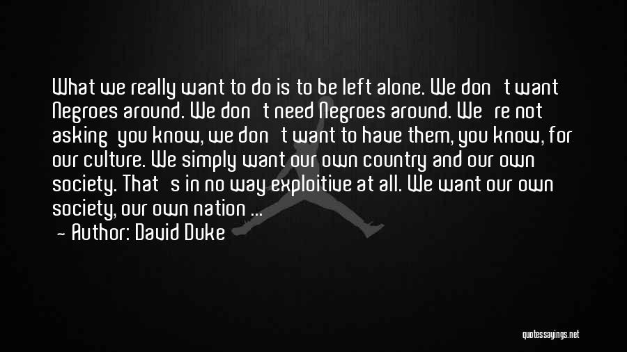 We Don't Need You Quotes By David Duke