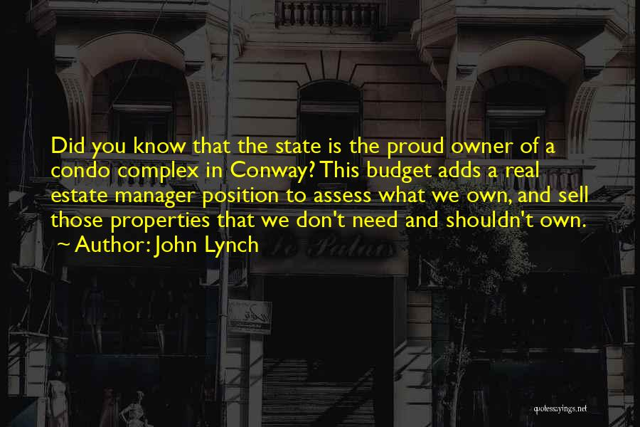 We Don't Need You Quotes By John Lynch