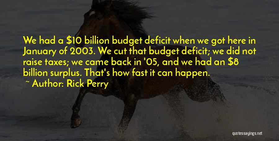 We Got Each Others Back Quotes By Rick Perry