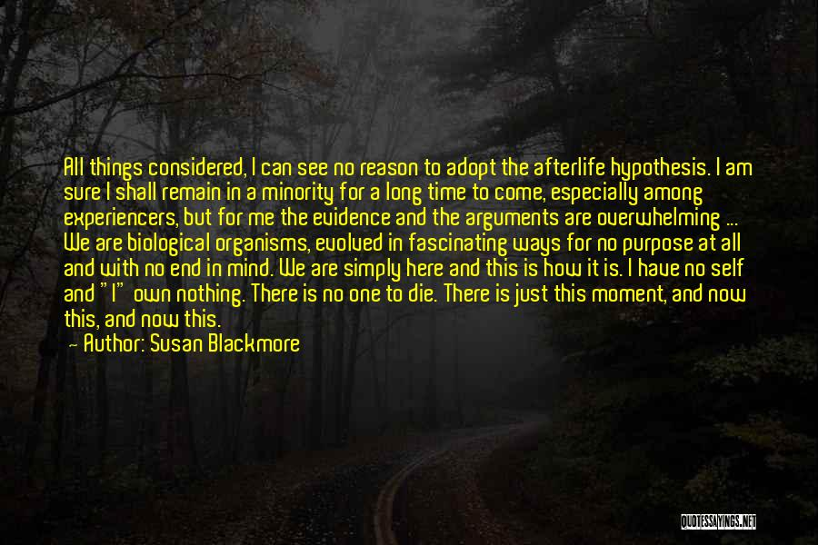 We Have Nothing But Time Quotes By Susan Blackmore