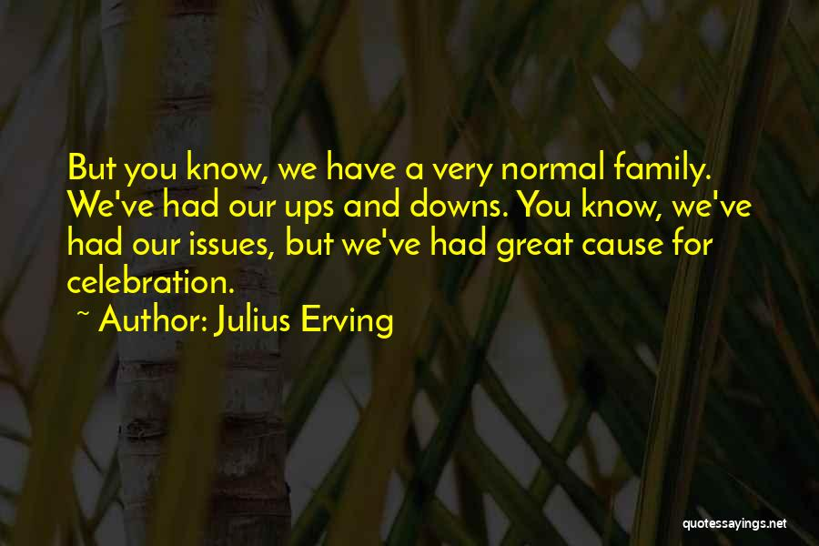 We Have Ups Downs Quotes By Julius Erving