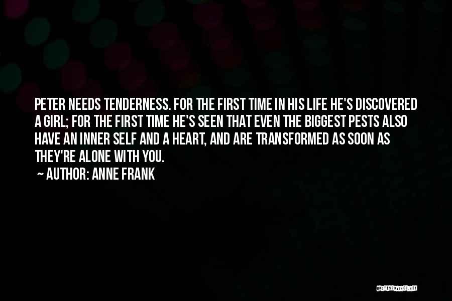 We Heart It Alone Girl Quotes By Anne Frank